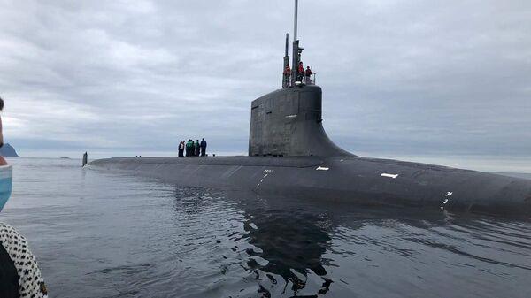Американская подводная лодка USS Seawolf (SSN 21) в окрестностях Тромсё