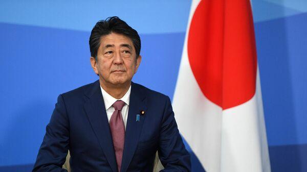 Премьер-министр Японии Синдзо Абэ на полях Восточного экономического форума – 2019 на территории кампуса ДВФУ на острове Русский