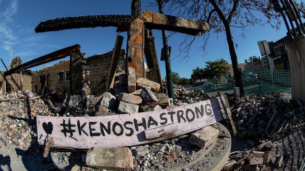 Разрушения в районе Аптаун города Кеноша в Висконсине, где проходят протесты против полицейского произвола