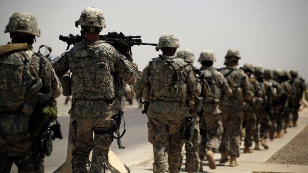 Американские военные на воздушной базе в Багдаде, во время вывода войск США из Ирака
