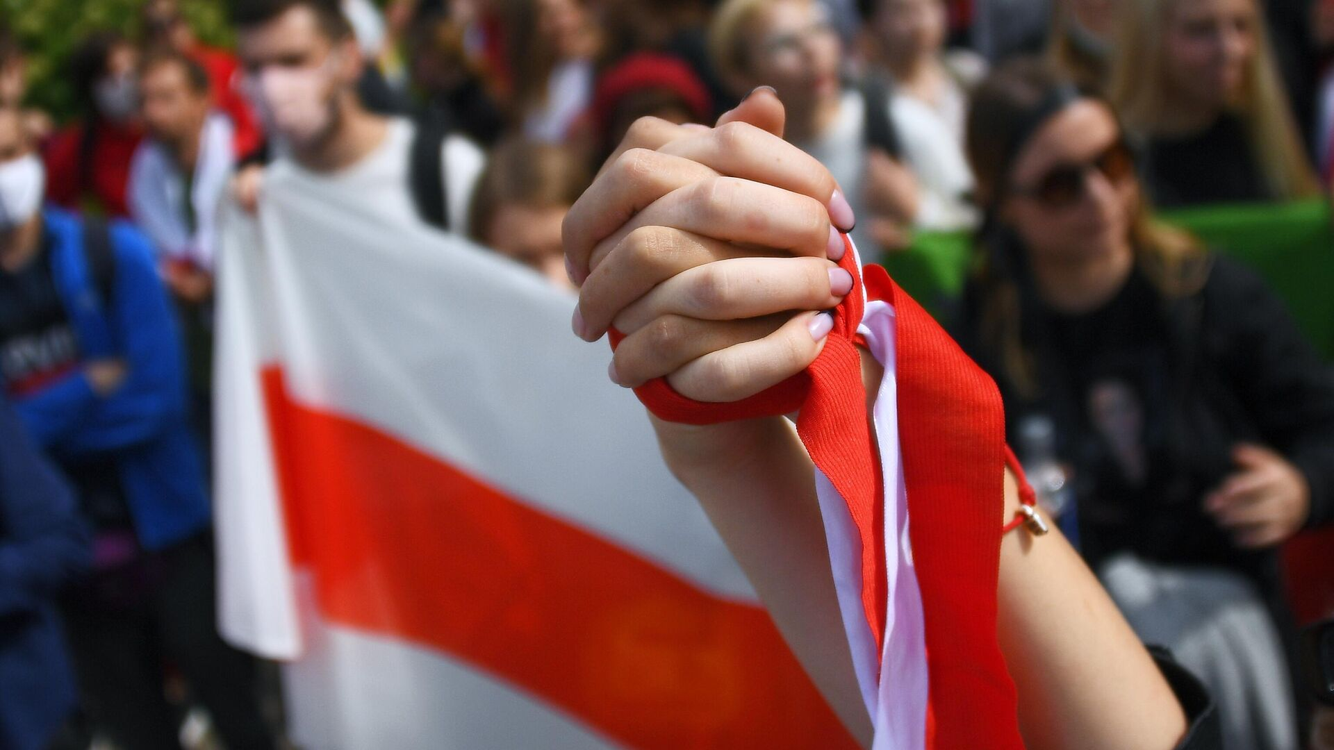 Участники студенческой акции протеста в Минске - РИА Новости, 1920, 04.09.2020