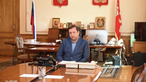 Видеоконференция губернатора Смоленской области Алексея Островского с председателем Газпрома Алексеем Миллером
