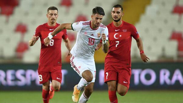 Игровой момент матча Турция - Венгрия