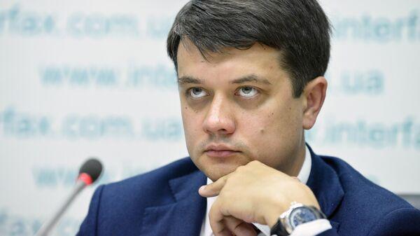 """Депутаты """"Слуги народа"""" начнут процедуру отзыва спикера Рады 4 октября"""