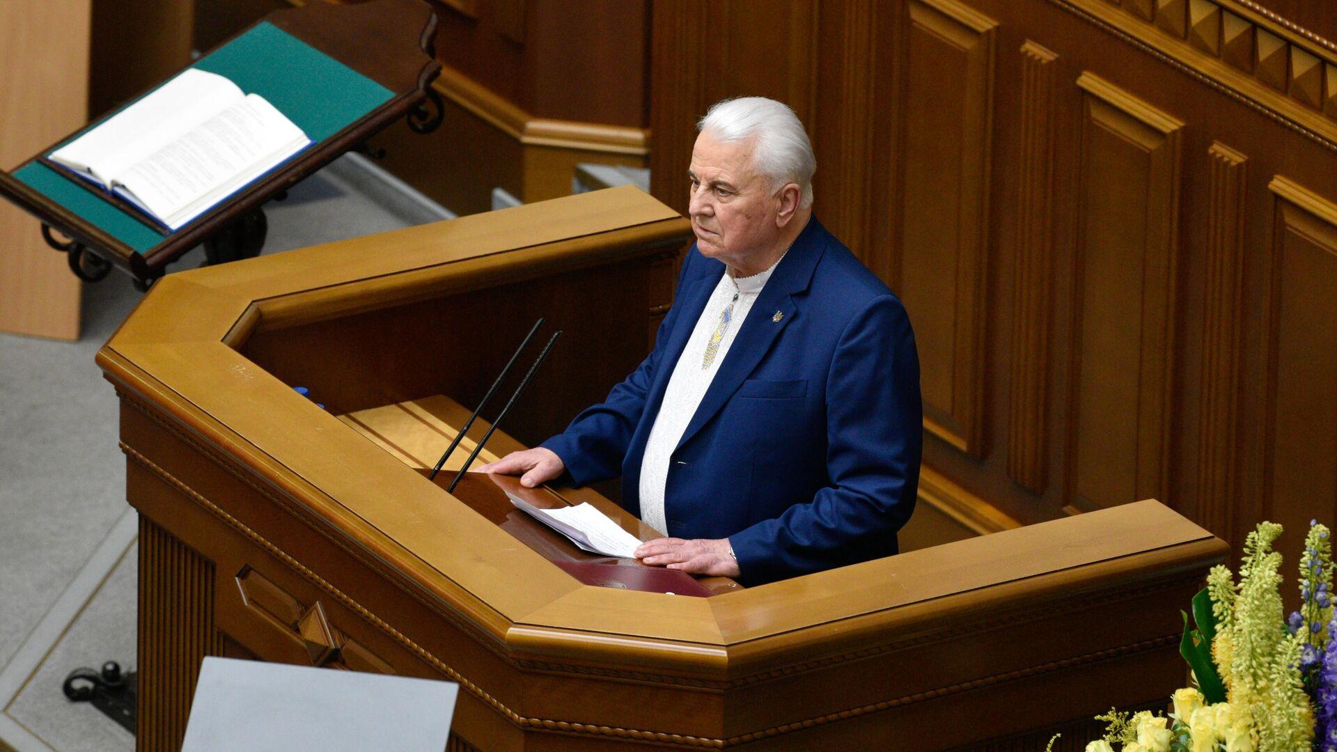 Первый президент Украины Леонид Кравчук - РИА Новости, 1920, 03.03.2021