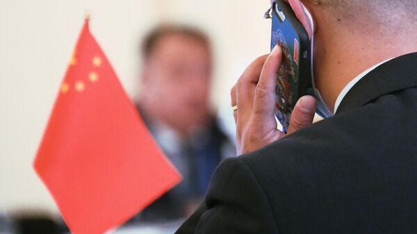 Представитель делегации КНР на заседании Совета национальных координаторов государств ШОС
