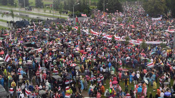 Несанкционированная акция оппозиции Марш единства в Минске