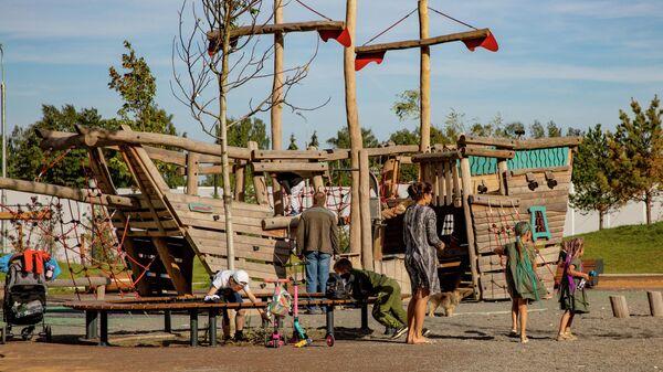 Детский парк в Испанских кварталах в новой Москве