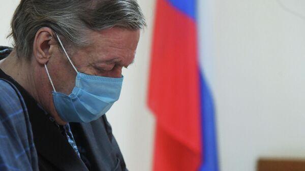 Актер Михаил Ефремов в Пресненском суде города Москвы