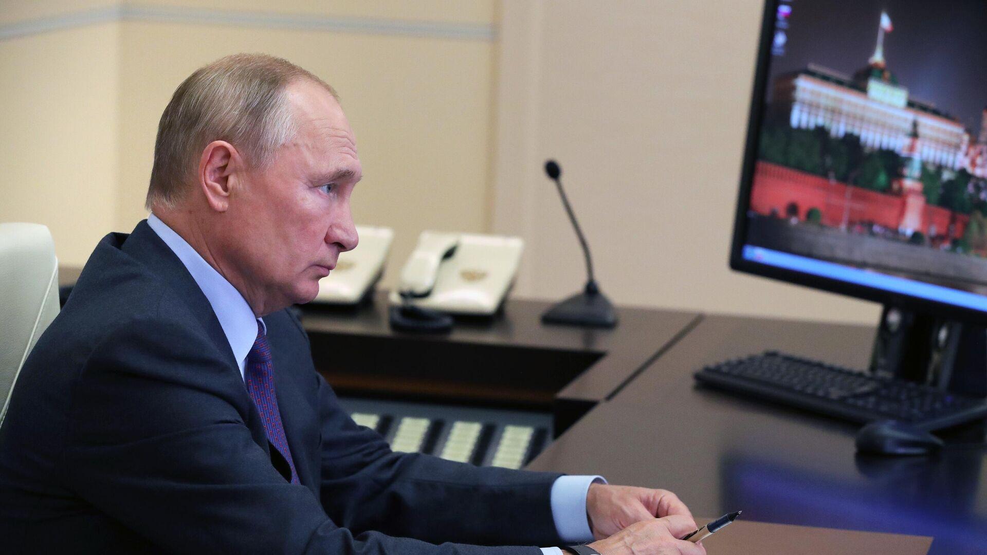Президент РФ В. Путин провел совещание с членами правительства РФ - РИА Новости, 1920, 09.09.2020