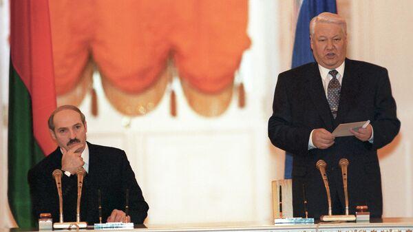 Подписание Договора о создании Союзного государства России и Белоруссии. 8 декабря 1999 года