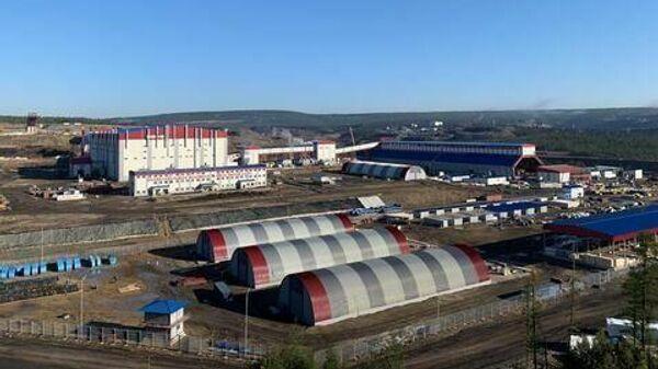 Сооружения на территории шахты Инаглинская в Нерюнгринском районе Якутии