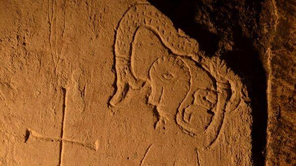 Археологи нашли в Спасском соборе Переславля-Залесского редкие граффити с чудо-зверем