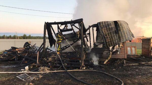 Пожар в доме в Подмосковье
