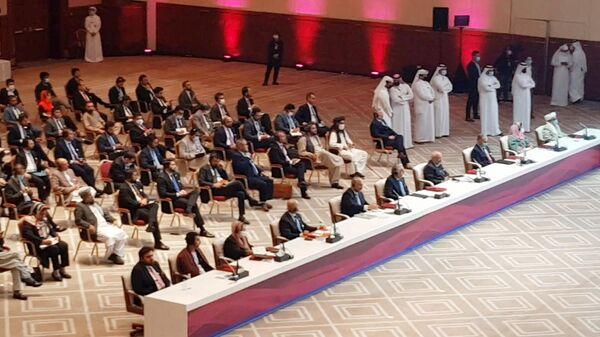 Переговоры между правительством Афганистана и движением Талибан (запрещено в РФ) в Катаре