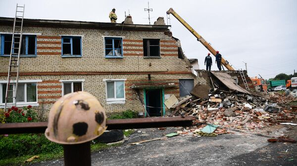 Ликвидация последствий обрушения в жилом доме в селе Вознесенка Хорольского района Приморья