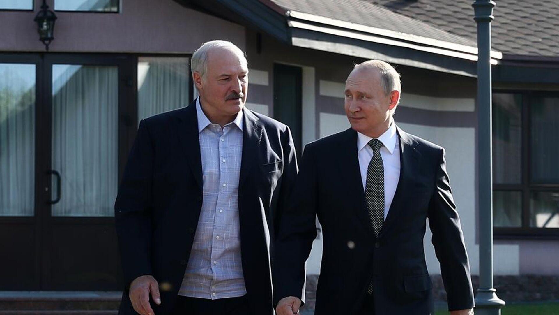 Президент РФ Владимир Путин и президент Белоруссии Александр Лукашенко - РИА Новости, 1920, 16.09.2020