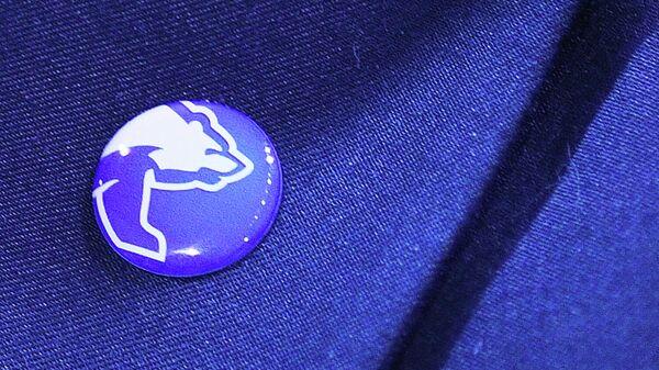 Значок с эмблемой партии Единая Россия