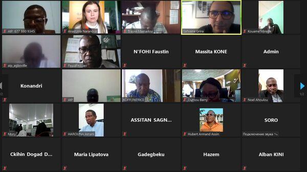 Онлайн-сессия просветительского проекта SputnikPrо прошла в крупнейшем городе Кот-д'Ивуара Абиджане