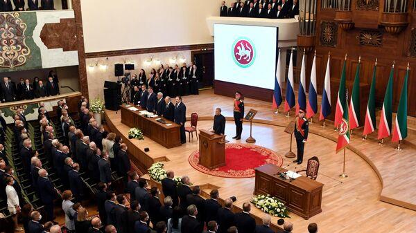 Церемония инаугурации президента Республики Татарстан Рустама Минниханова в Казани
