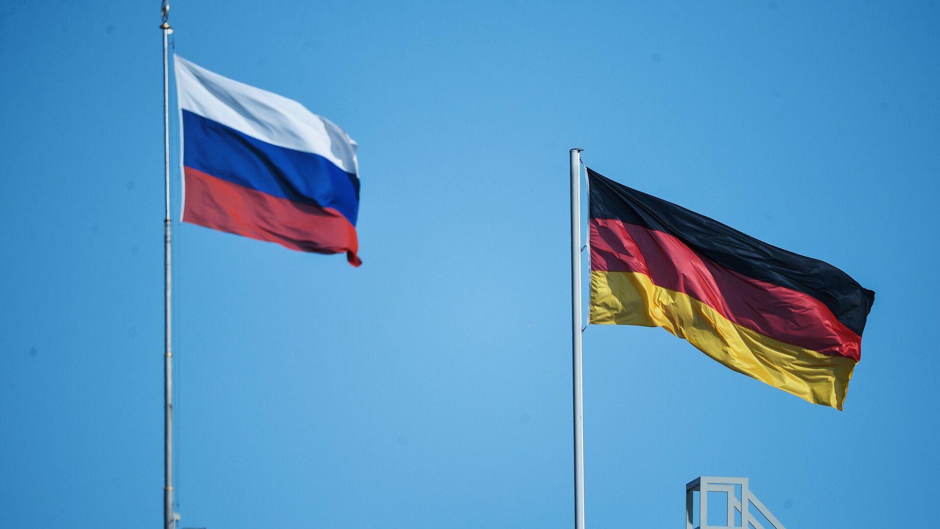 Флаг России и Германии в Берлине - РИА Новости, 1920, 10.12.2020