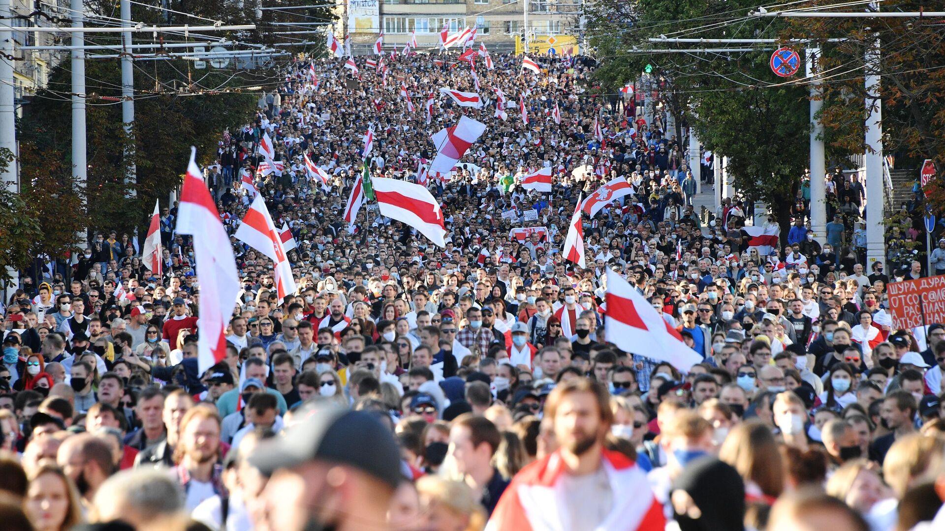 Акция протеста Марш Справедливости в Минске - РИА Новости, 1920, 23.09.2020