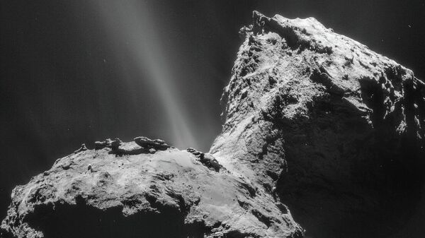Космический корабль ЕКА Розетта выявить уникальные ультрафиолетовые авроральные эмиссии вокруг кометы 67P/Чурюмова-Герасименко
