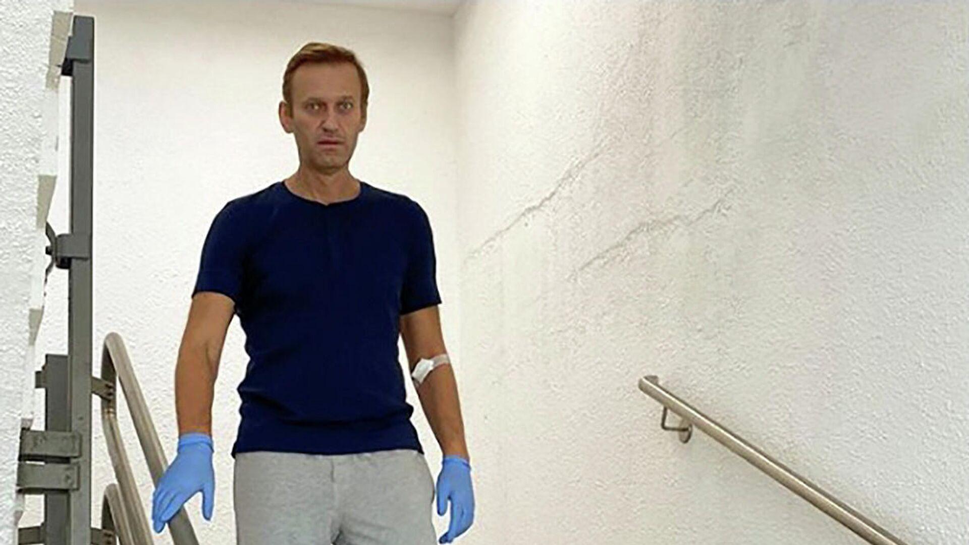 Алексей Навальный в клинике Шарите в Берлине - РИА Новости, 1920, 23.09.2020