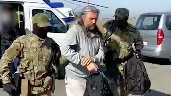 Один из руководителей религиозной организации Церковь Последнего Завета Сергей Тороп во время задержания