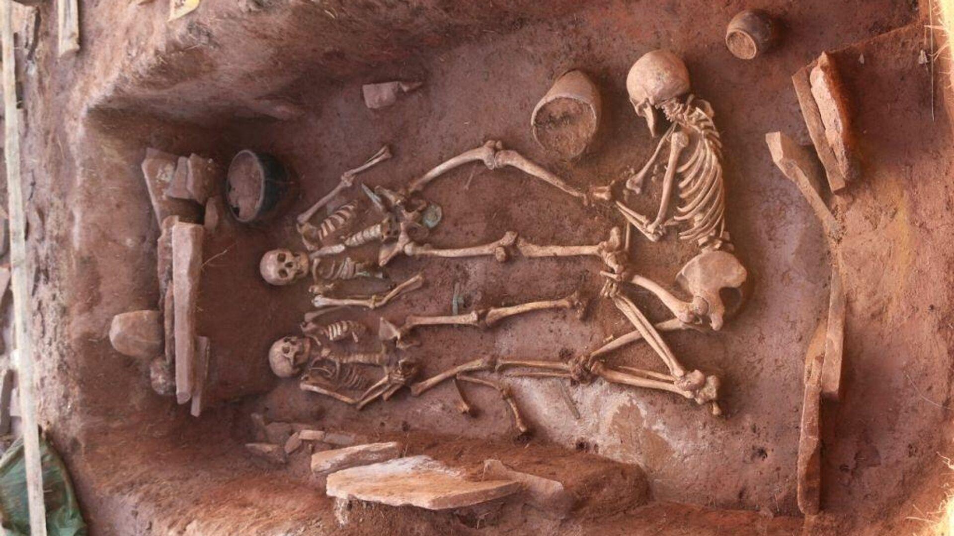 Сибирские археологи нашли в Хакасии нетронутый могильник скифского времени - РИА Новости, 1920, 23.09.2020