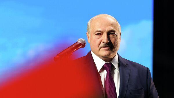 Президент Белоруссии Александр Лукашенко во время выступления в Минске