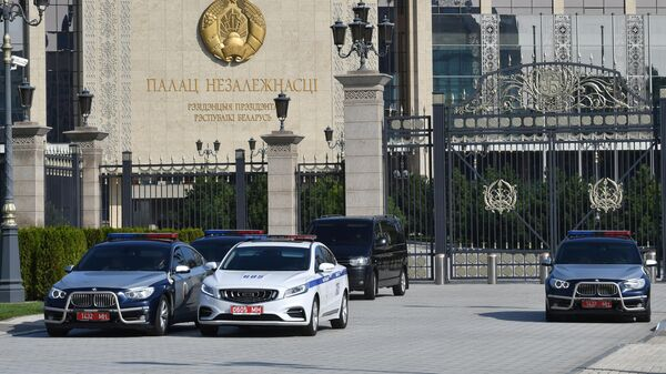 Дворец Независимости в Минске, где проходит церемония инаугурации избранного президента Белоруссии Александра Лукашенко