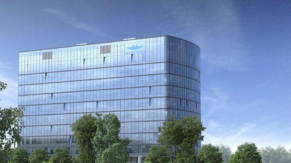 Компьютерная модель нового офиса Метровагонмаш, которы будет построен на Ярославском шоссе