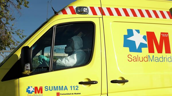 Машина скорой помощи в Мадриде