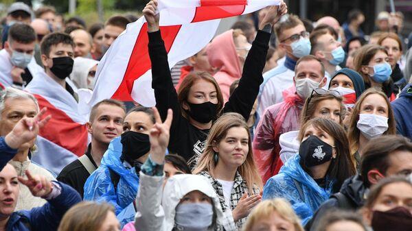Во время несанкционированной акции протеста оппозиции в Минске