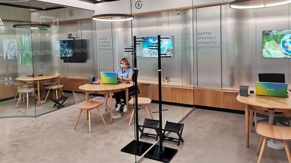 Первый офис Сбербанка нового формата в Москве