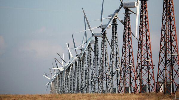 Ветрогенераторы на ветроэлектростанции