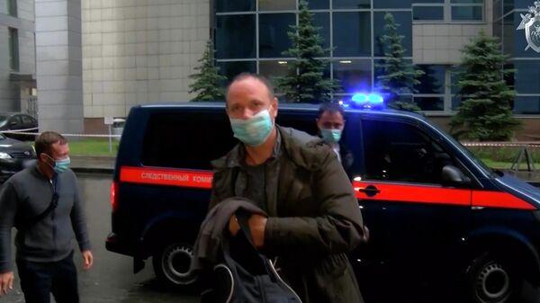 Следственные действия в отношении депутата Заксобрания Иркутской области Андрея Левченко. Стоп-кадр видео