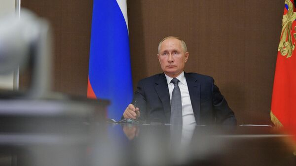 Президент РФ Владимир Путин проводит заседание Госсовета