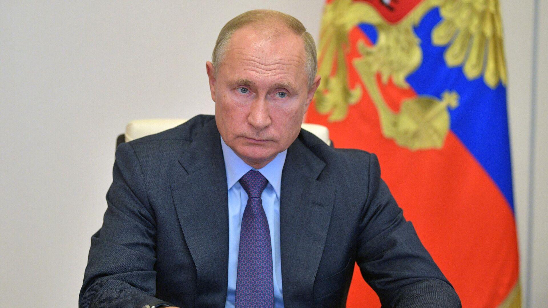 Президент РФ Владимир Путин в режиме видеоконференции проводит совещание о развитии и декриминализации лесного комплекса - РИА Новости, 1920, 30.09.2020