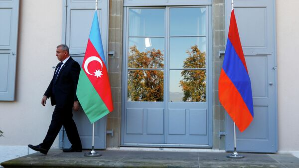 Флаги Азербайджана и Армении