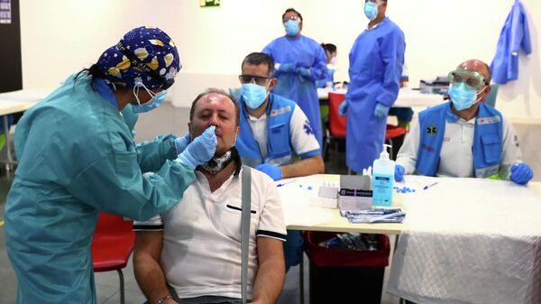Тестирование на коронавирус в Мадриде