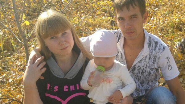 Вячеслав Селезнев с женой и дочерью
