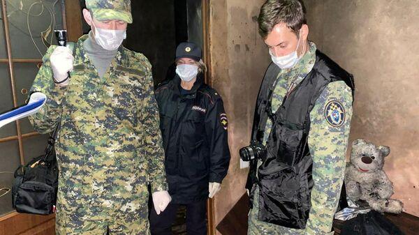 На месте пожара в частном доме села Геройское Сакского района