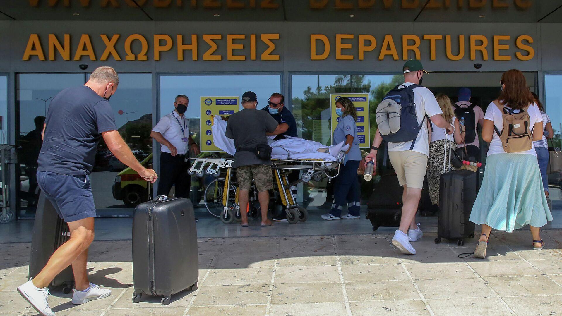 Туристы в аэропорту Ираклиона, Греция - РИА Новости, 1920, 23.10.2020