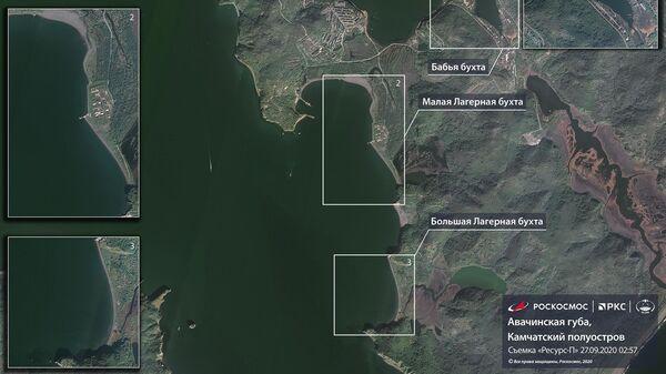 Роскосмос показал спутниковые снимки Камчатки, где произошло загрязнение побережья