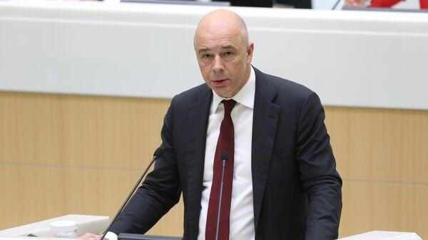 Министр финансов РФ Антон Силуанов во время парламентских слушаний  О параметрах проекта федерального бюджета на 2021 год и на плановый период 2022 и 2023 годов