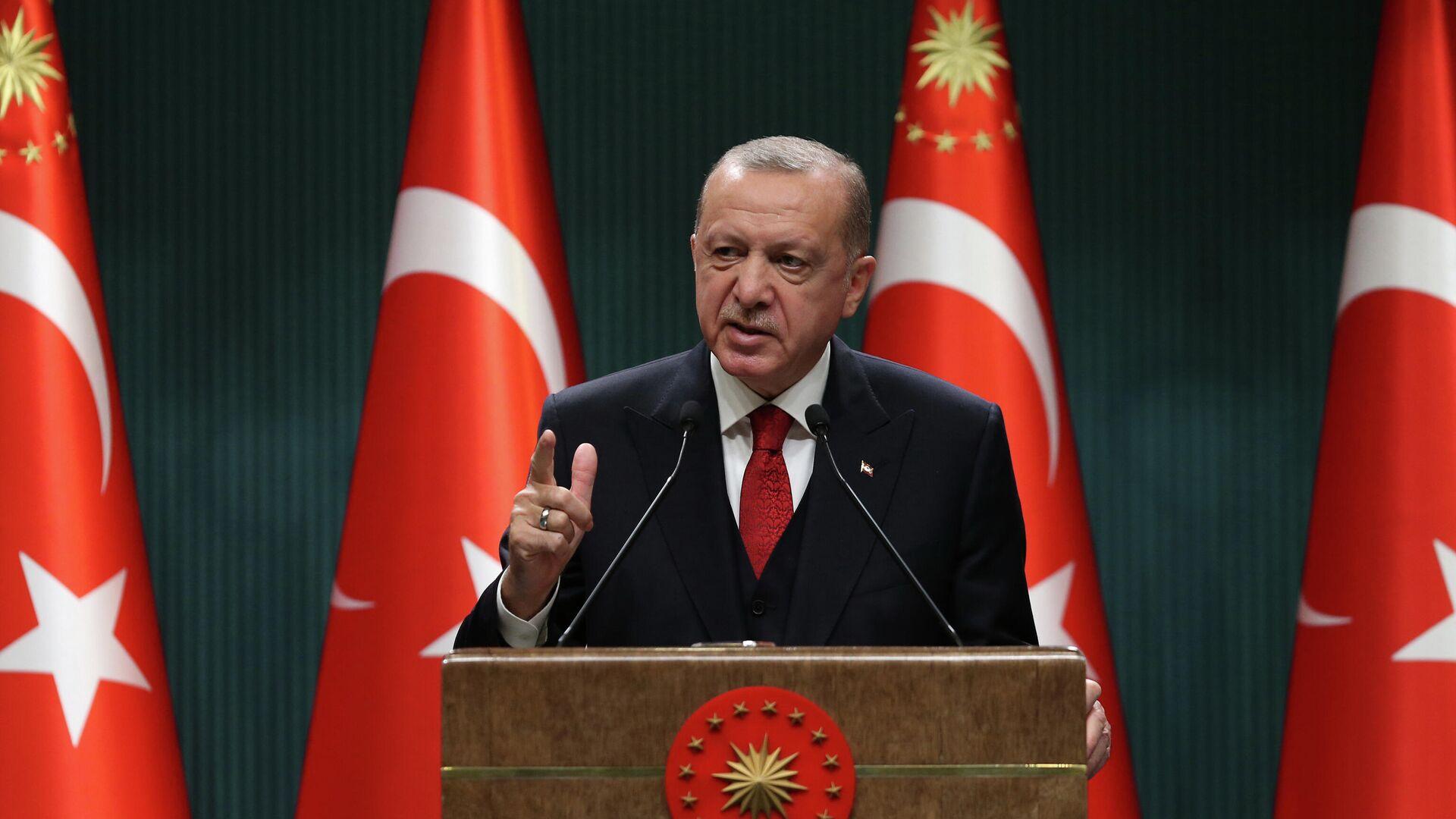 Президент Турции Реджеп Тайип Эрдоган в Анкаре  - РИА Новости, 1920, 07.10.2020