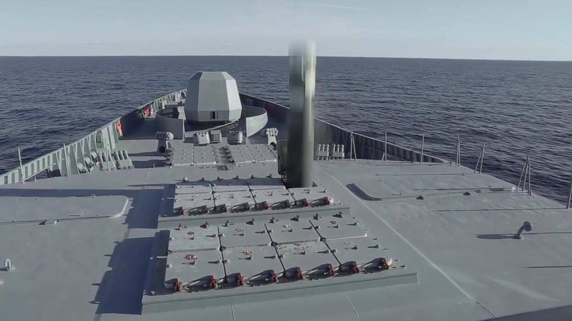 Первый запуск гиперзвуковой ракеты Циркон с фрегата Адмирал Горшков в Белом море по морской цели в Баренцевом море - РИА Новости, 1920, 20.07.2021