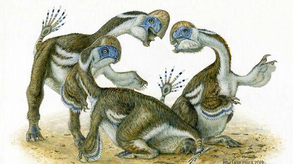 Так в представлении художника выглядел динозавр Oksoko avarsan